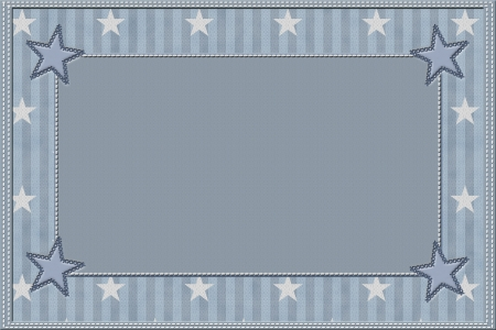 Blue Striped Background with Stars and center for copy-space, Celebration photo