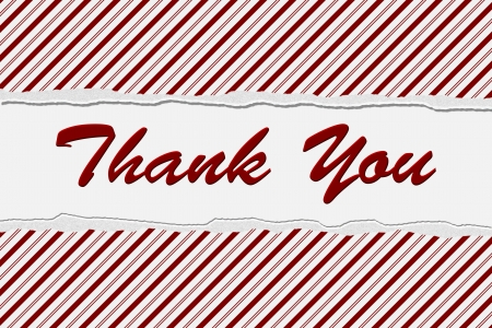Candy Cane Stripe background with the words Thank You, Thank You at Christmas Time