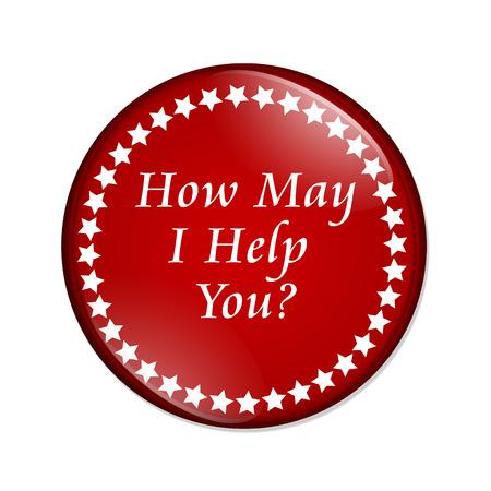 you can: Un botón rojo con las palabras, ¿en qué puedo ayudarle aislado en un fondo blanco, ¿en qué puedo ayudarle botón