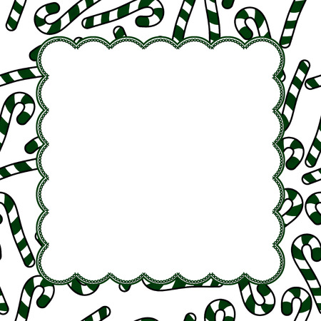 candy border: Candy Cane Christmas Background center for copy-space, Christmas Time Background