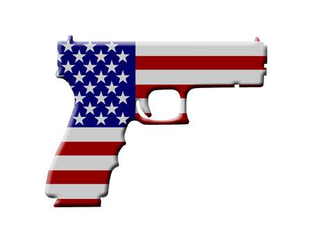 Das Wort Schuld In 3D In Den Amerikanischen Flagge Farben Auf Weißem ...