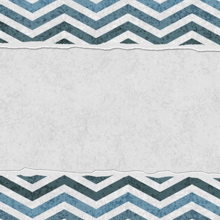 Blue Chevron Torn  Background for your message or invitation with copy-space in the middle photo