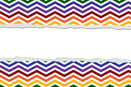 Rainbow Color Chevron Torn  Background for your message or invitation with copy-space in the middle photo