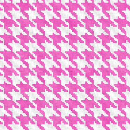 hounds: White and Pink Hounds Tooth textured Fabric Background that is seamless and repeats