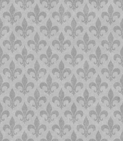 Gray Fleur De Lis Textured Fabric Background that is seamless and repeats
