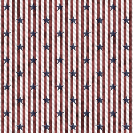 Patriotic Stars and Striped Textured Fabric Background that is seamless and repeats photo
