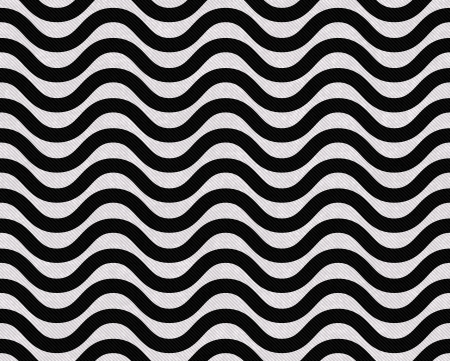 lines: Black and White Wavy Textured Fabric Background that is seamless and repeats Stock Photo