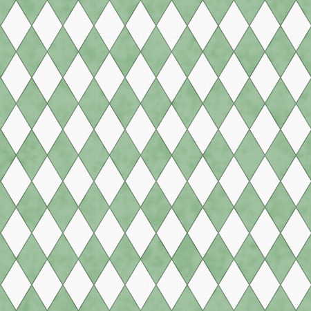 Green and White Diamond Shape Fabric Background that is seamless and repeats photo
