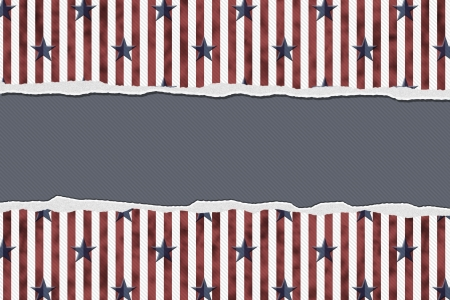 Stars and Stripes Torn Background copy-space for your message, Patriotic Background photo