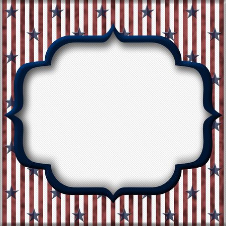 patriotic border: Red and Blue Striped Background with center for copy-space, USA Patriotic Background