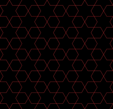 Red and Black Hexagon Patterned Fabric Background that is seamless and repeats photo