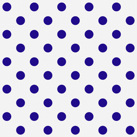 white fabric texture: Bright Blue Polka Dots on White Textured Fabric that is seamless and repeats Stock Photo