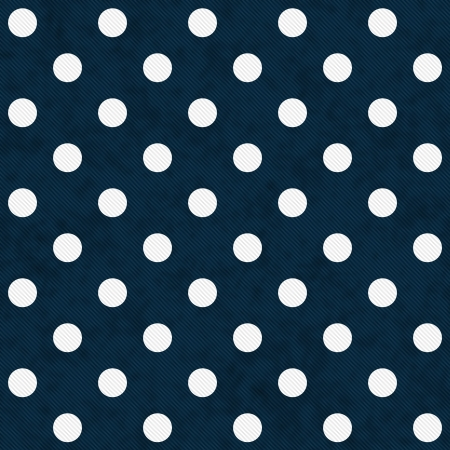 white polka dots: White Polka Dots on Navy Blue Textured Fabric Background that is seamless and repeats