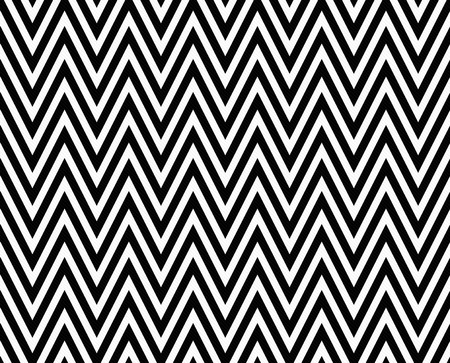 zag: Thin Black and White Horizontal Chevron Striped Textured Fabric that is seamless and repeats