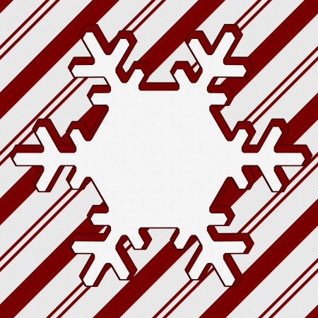 Candy Cane Striped Christmas Background with center snowflake copy-space, Christmas Time Background photo