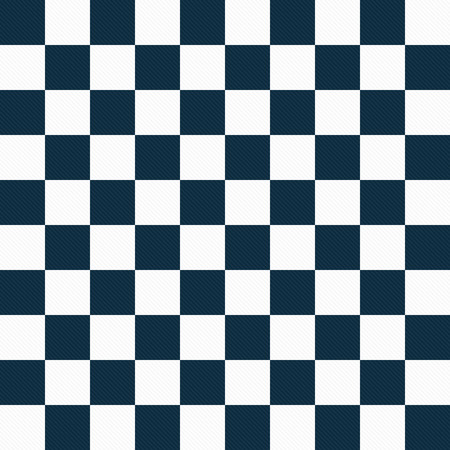 Navy Blue and White Checkers Textured Fabric Background that is seamless and repeats photo