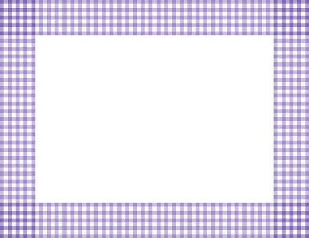 Purple Gingham Background with center isolated for copy-space, Purple Gingham Frame Stock Photo - 24832381