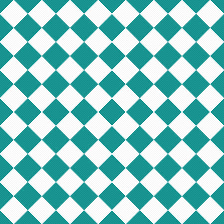 tile pattern: Dark Teal and White Diagonal Checkers Textured Fabric Background that is seamless and repeats