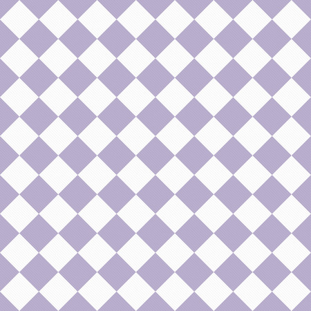 diagonal: Pale Purple and White Diagonal Checkers Textured Fabric Background that is seamless and repeats