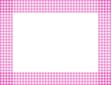 Pink Gingham with center isolated for copy-space, Pink Gingham Frame Stock Photo - 24966949