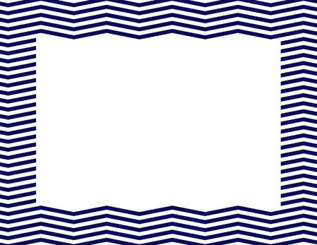 azul marino: Azul marino Chevron fondo del marco con el centro aislado de copia-espacio, Marco Azul marino Chevron