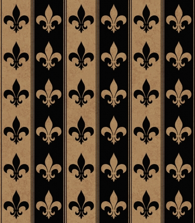 fleur de lis: Black and Beige Fleur De Lis Textured Fabric that is seamless and repeats