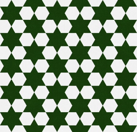 Dark Green and White Hexagon Patterned Textured Fabric that is seamless and repeats photo