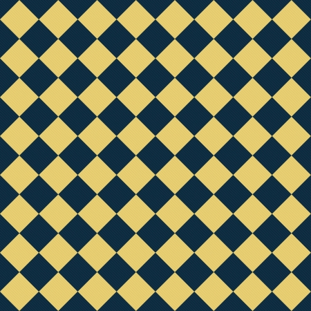 navy blue background: Navy Blue and Yellow Diagonal Checkers Textured Fabric Background that is seamless and repeats Stock Photo