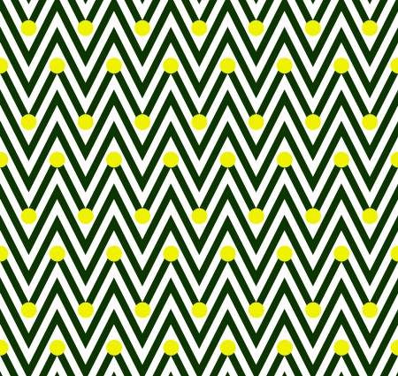 Green and White Horizontal Chevron Striped with Polka Dots Background that is seamless and repeats photo