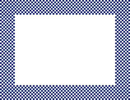 navy blue background: Navy Blue and White Checkered Frame Background with center isolated for copy-space