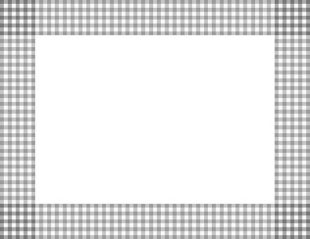 Gray Gingham Background with center isolated for copy-space, Gray Gingham Frame Stock Photo - 25112538