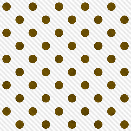 Gold Polka Dots on White Textured Fabric Background that is seamless and repeats