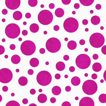 Heldere Roze Stippen Stippen Op Witte Geweven Stofachtergrond Die naadloos is en herhaalt Stockfoto