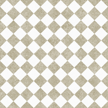 diagonal: Pale Beige and White Diagonal Checkers Textured Fabric Background that is seamless and repeats
