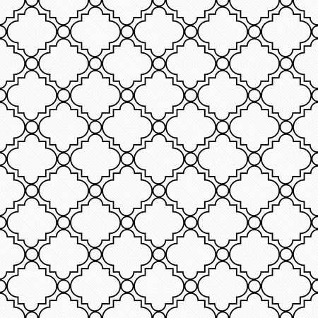 repetition: Black and White Decorative Design Textured Fabric Background that is seamless and repeats Stock Photo
