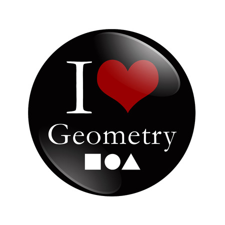 I Love Geometry button photo