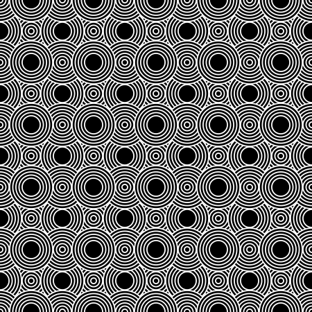 repeatable: Black and White Circles Tiles Pattern Repeat Background that is seamless and repeats
