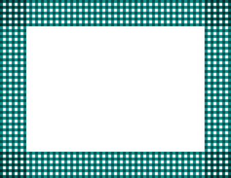 Teal Gingham Background with center isolated for copy-space, Teal Gingham Frame photo
