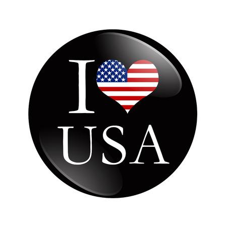 I Love USA button Stok Fotoğraf