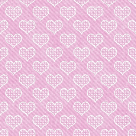 Pink and White Polka Dot Hearts Pattern Repeat Background that is seamless and repeats photo