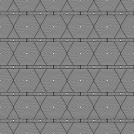 Black and White Hexagon Tiles Pattern Repeat Background that is seamless and repeats photo