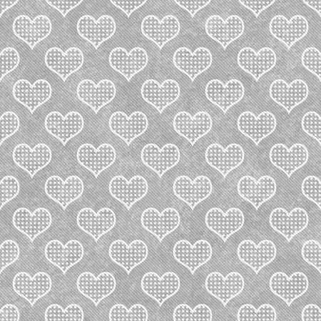 Gray and White Polka Dot Hearts Pattern Repeat Background photo