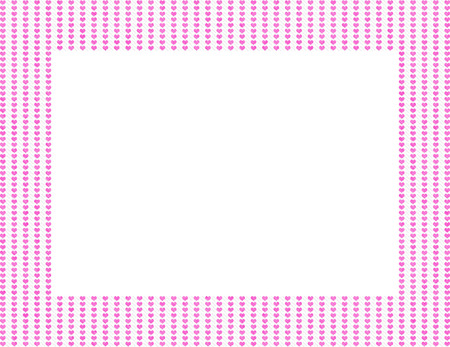 Pink Hearts Frame Background with center isolated for copy-space, Pink Hearts Frame photo