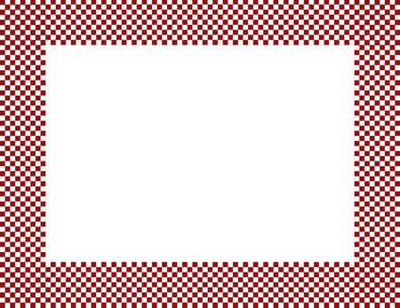 checker: Red and White Checkered Frame Background with center isolated for copy-space