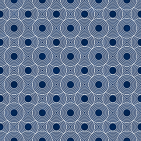 navy blue background: Navy Blue and White Circles Tiles Pattern Repeat Background that is seamless and repeats