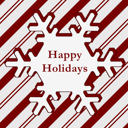 happy holidays text: Happy Holidays Wish, Candy Cane Striped Christmas Background and Happy Holidays Text