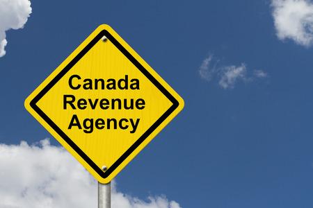 revenues: Canada Revenue Agency Warning Sign