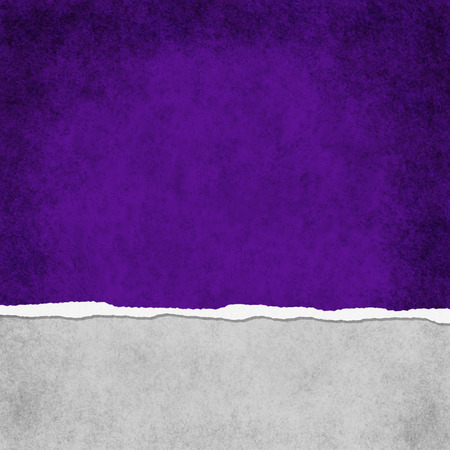 Square Dark Purple Grunge Torn Textured Background with copy space at top and bottom photo