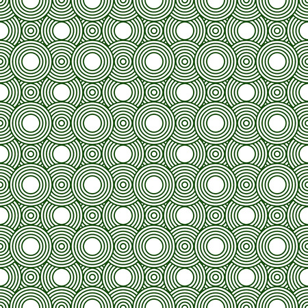 Green and White Circles Tiles Pattern Repeat Background that is seamless and repeats 写真素材
