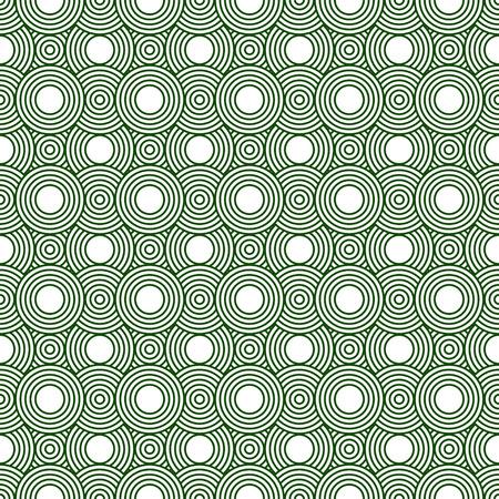 circulos concentricos: Círculos verdes y blancas Azulejos modelo de la repetición de fondo que es perfecta y repeticiones